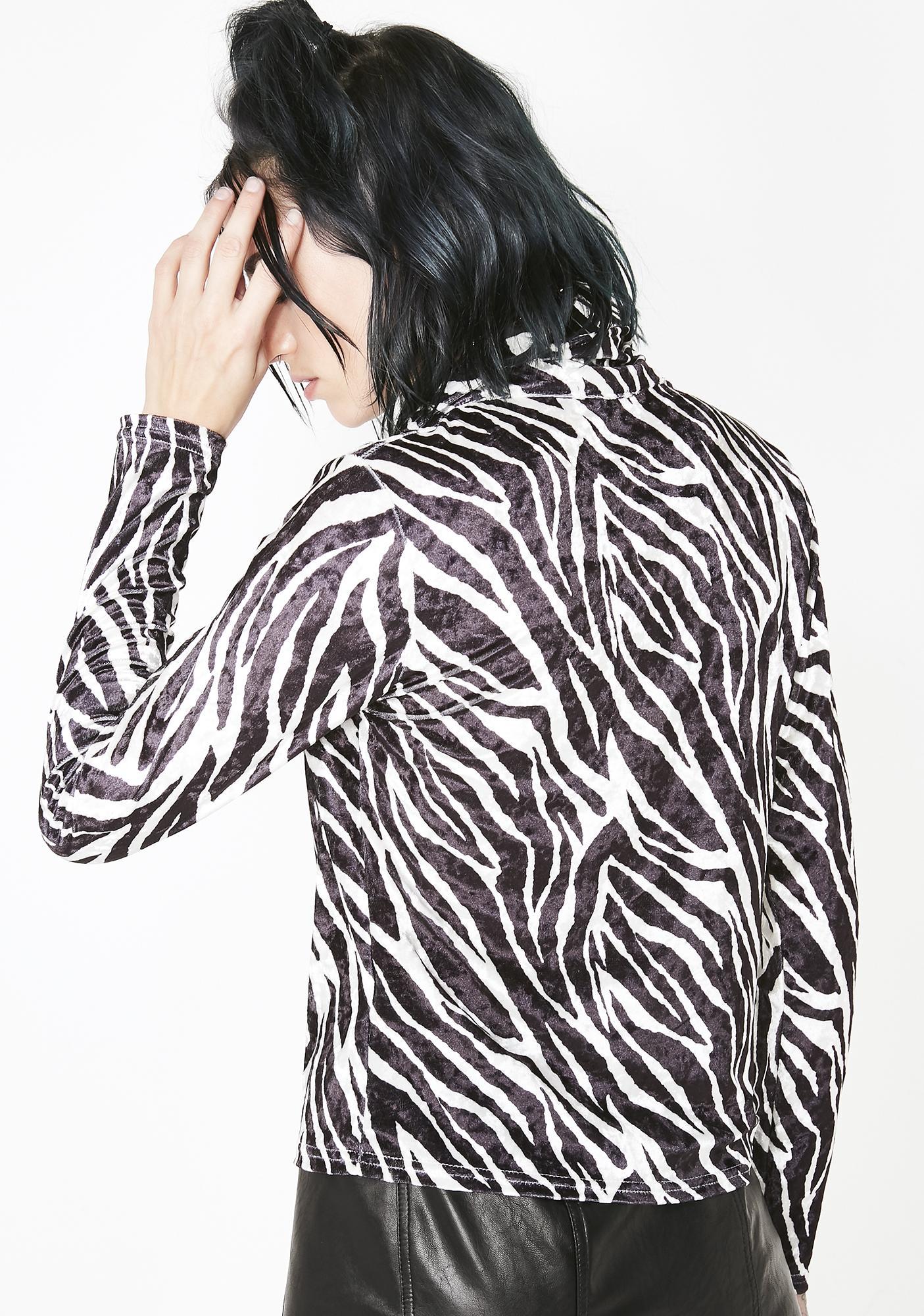 Current Mood Unruly Behavior Zebra Top