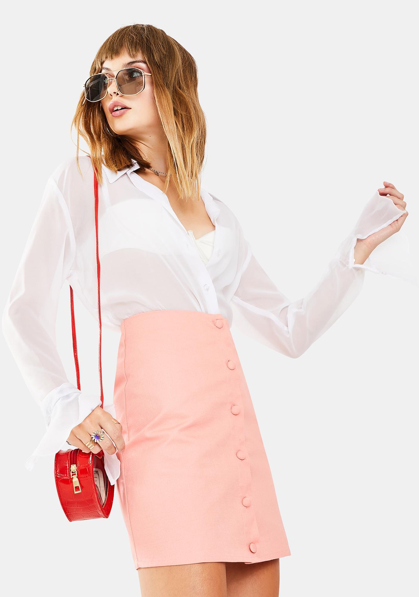 Glamorous Coral Mini Skirt