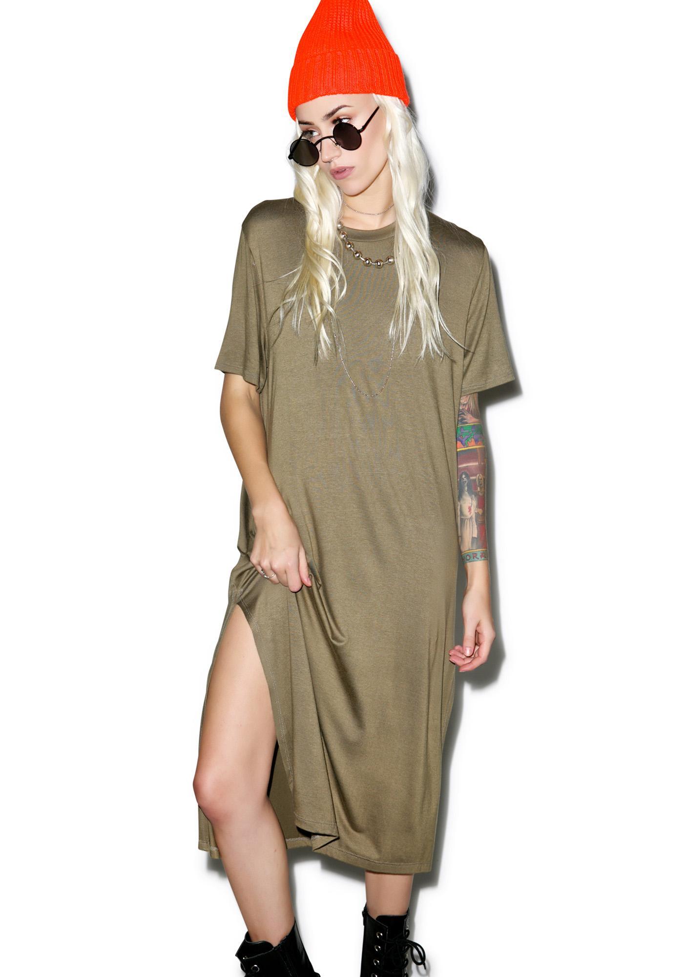Renegade Midi Shirt Dress