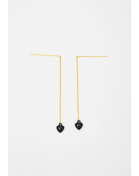 Drippin' Love Chain Earrings