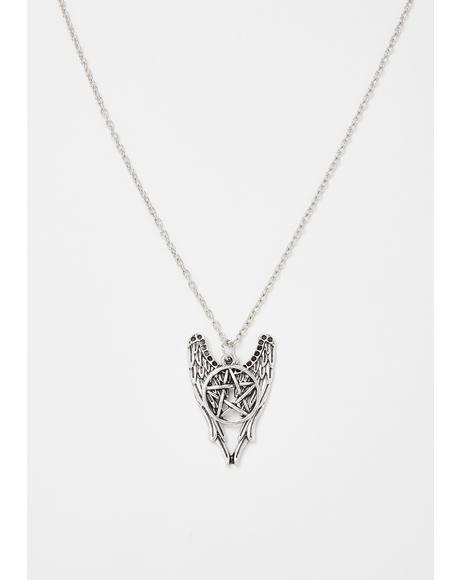 Wicked Wings Pentagram Necklace