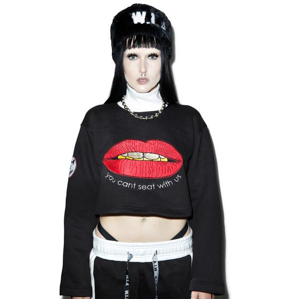 W.I.A Lips Cropped Sweater