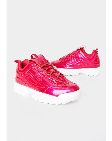 Red Disruptor II Liquid Luster Sneakers