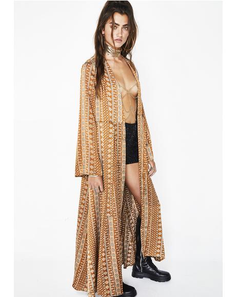 Blowin' In The Wind Geometric Kimono