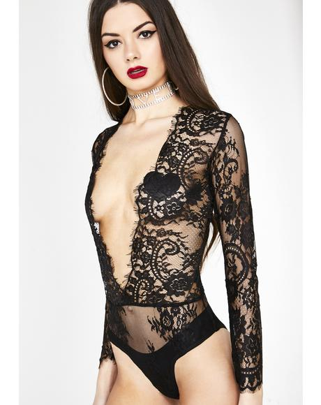 Wayward Lullaby Sheer Lace Bodysuit