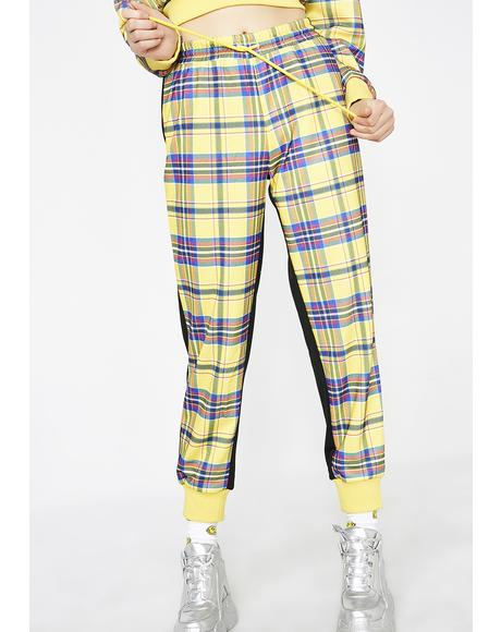 No Classes Plaid Joggers