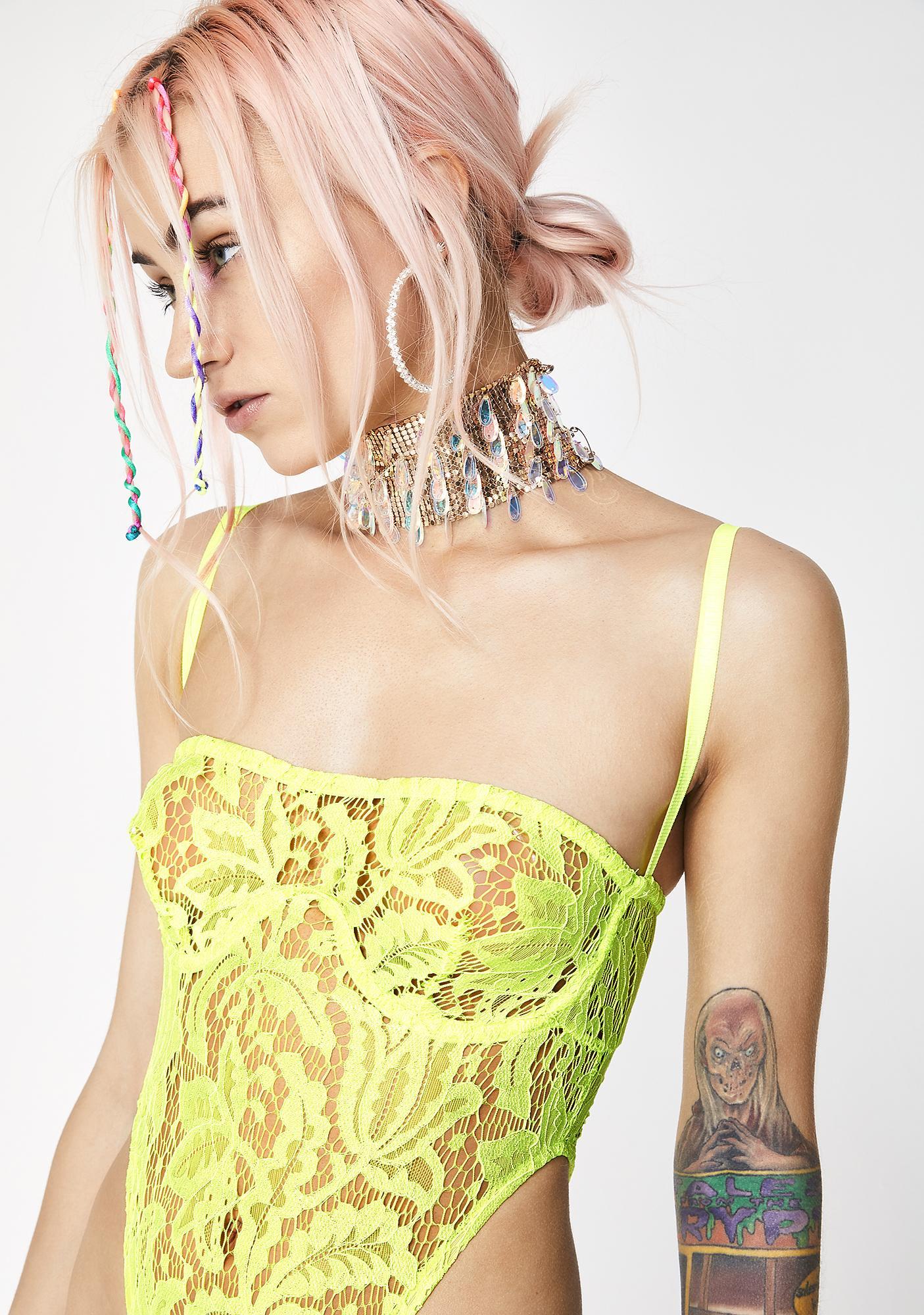 Matte Sunny Siren Lace Bodysuit