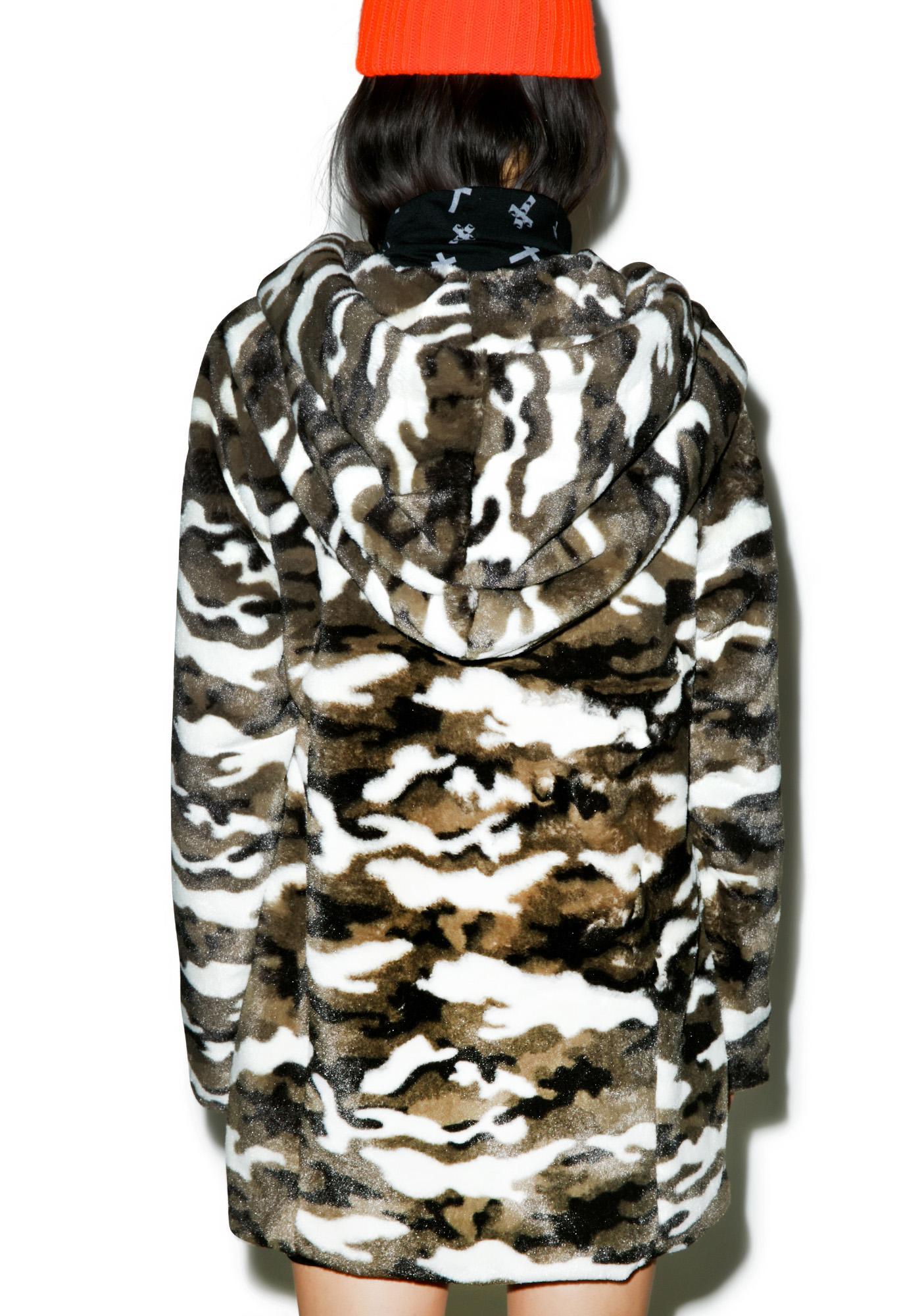 Camo Combat Hooded Coat