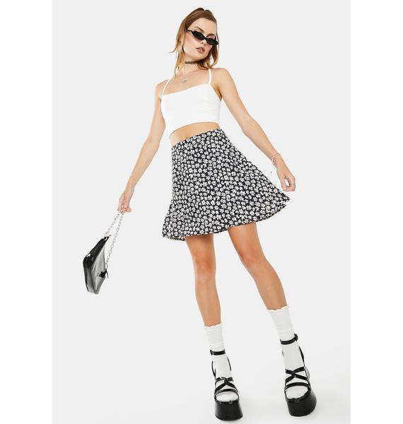 Dress Forum  Navy Floral Mini Skirt