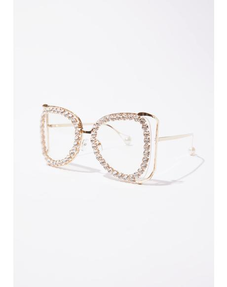 Face The Facts Rhinestone Frames