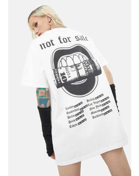 Not For Sale Oversized Tee