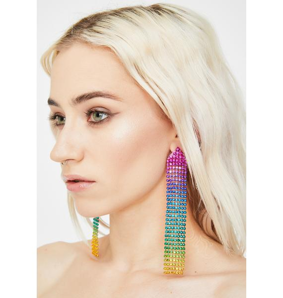 Get A Groove Rhinestone Earrings