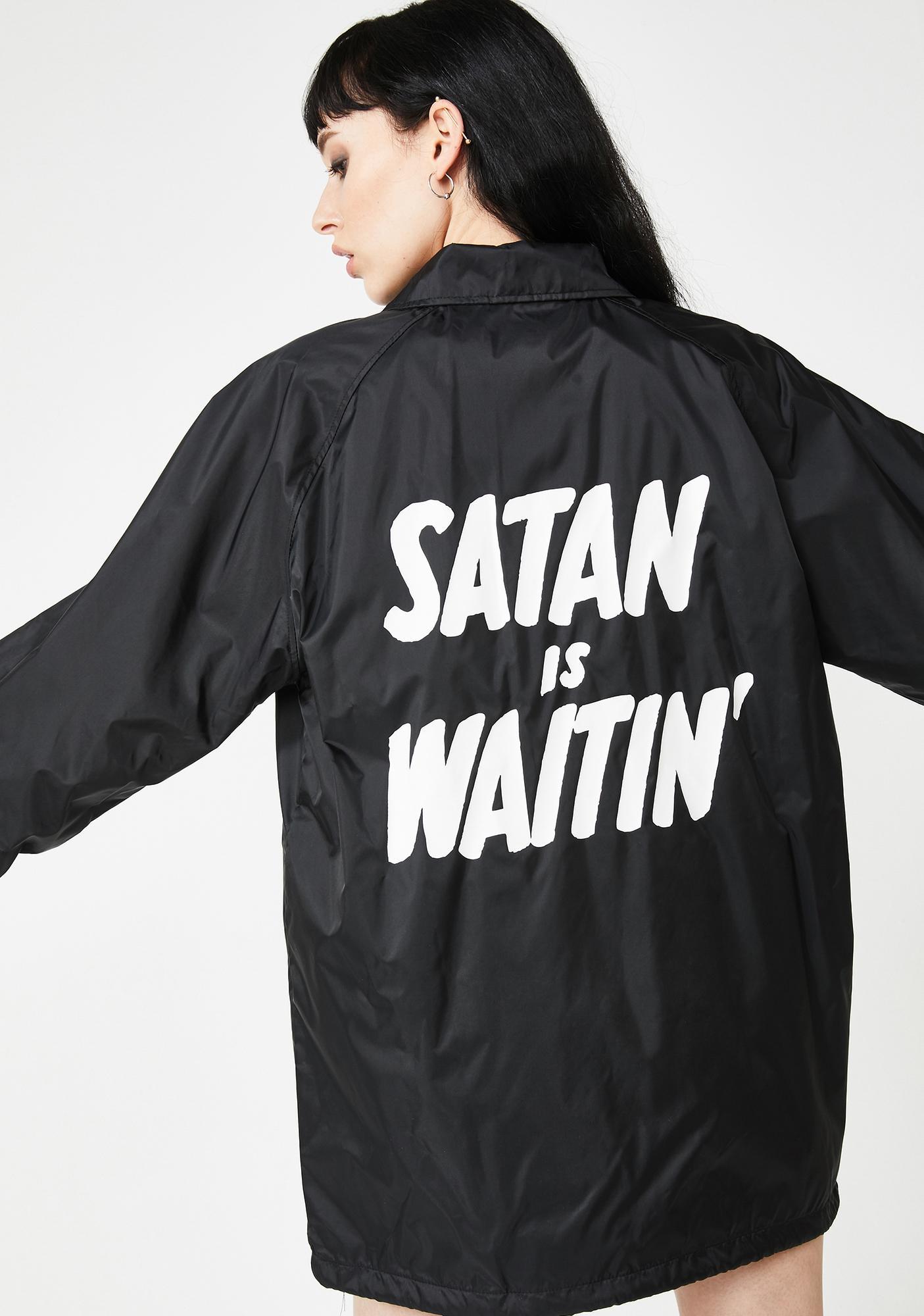 Creep Street Satan Is Waitin' Coach Jacket
