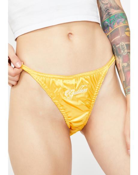Gold Goddess Satin Panties