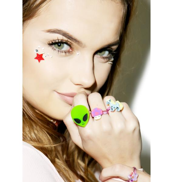 Rad and Refined Lil Green Men Ring