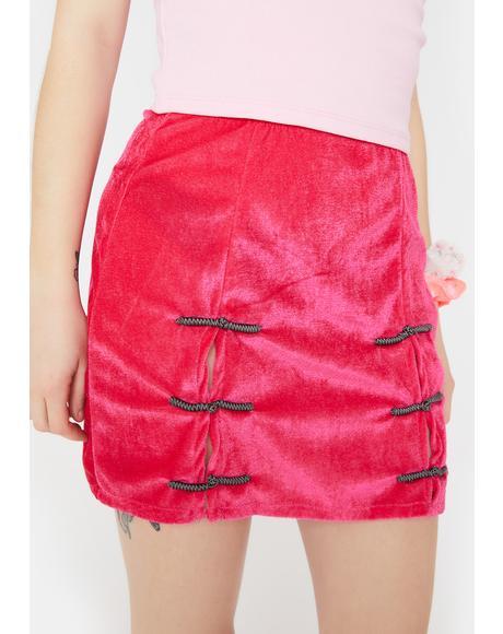 Hot Pink Sincity Mini Skirt