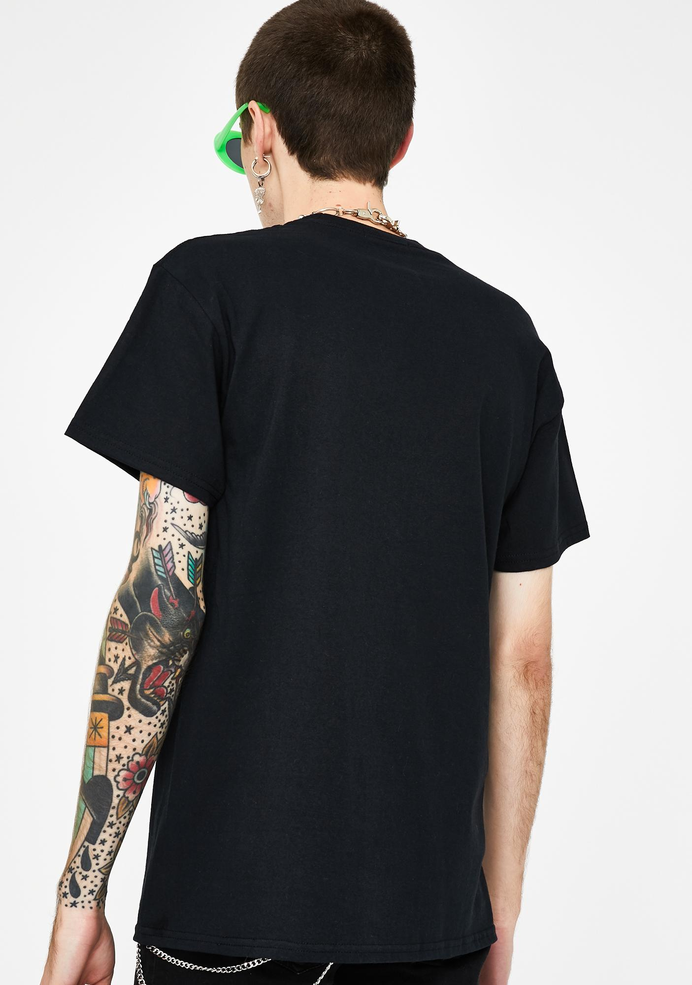 Petals and Peacocks Black Lust Graphic Tee