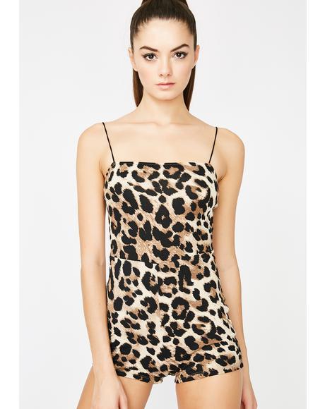 Feelin' Frisky Leopard Romper