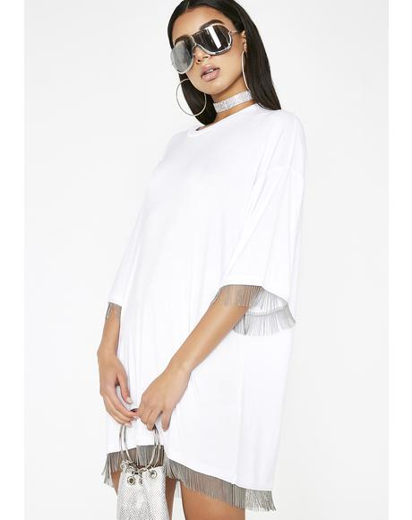 Icy Level Up Fringe Dress