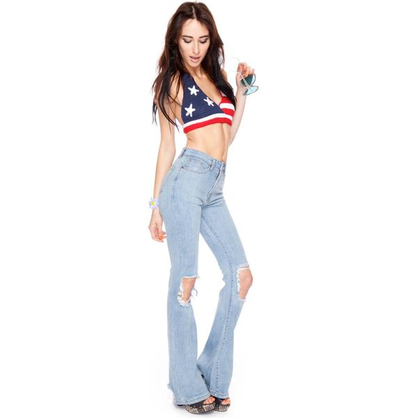 UNIF Charlie Bells High Waisted Jeans