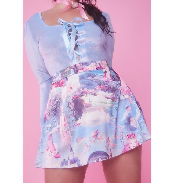 Sugar Thrillz Divine Once Upon A Dime Satin Skirt