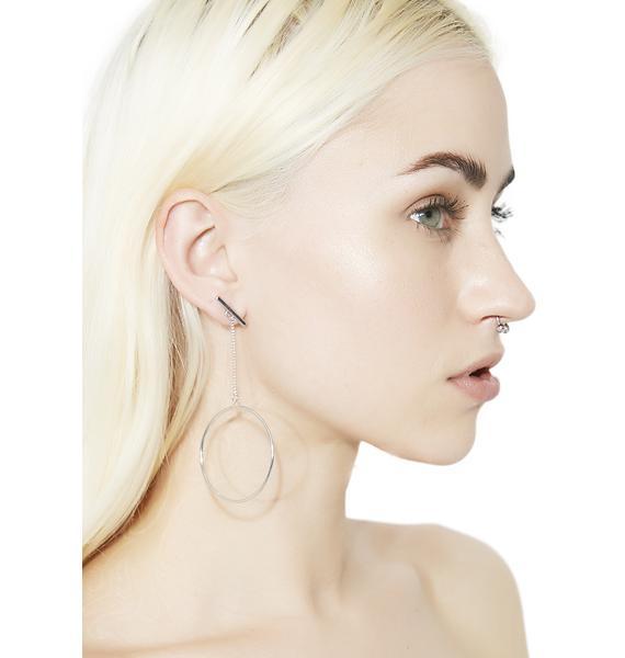Winner's Circle Silver Dangle Earrings