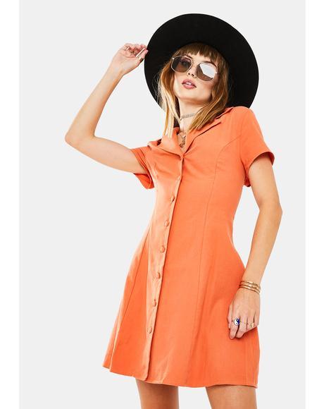 Dusty Orange Mini Dress