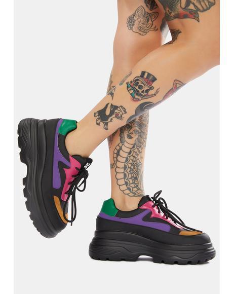 Gyoubu Wire Chunky Sneakers