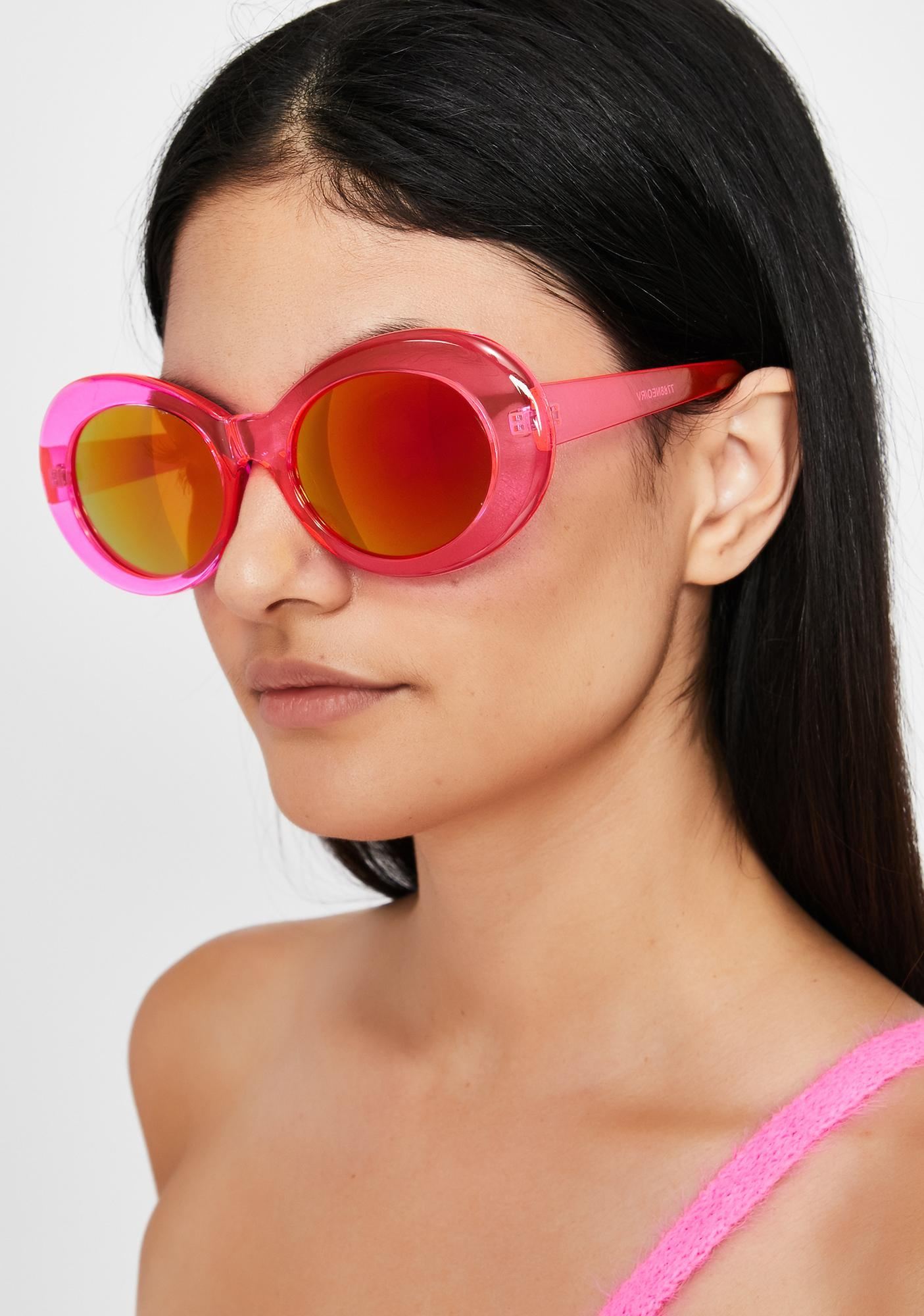Psychedelic Sights Oval Sunglasses