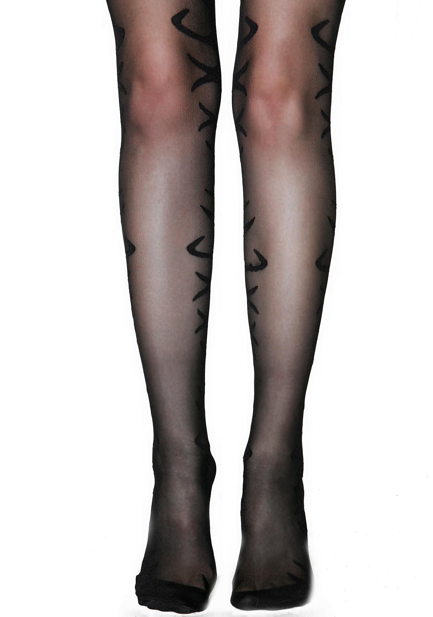 Smoked Flame Tights