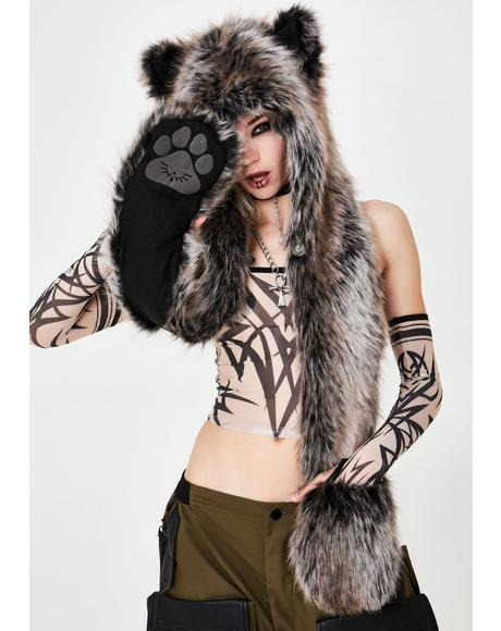 Grey Wolf Original SpiritHood