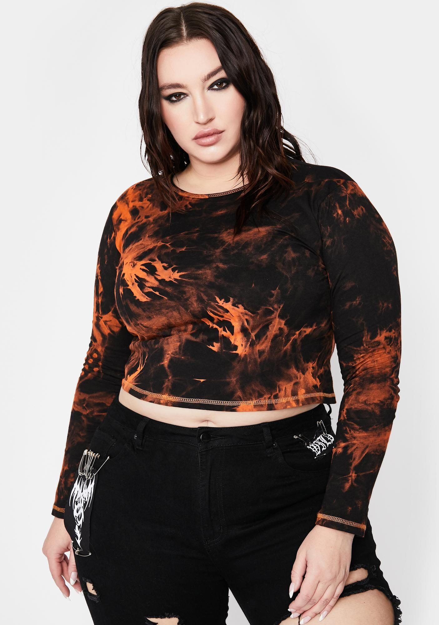 Current Mood Divine Fallen Phoenix Tie Dye Top