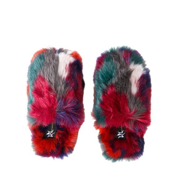 Lust For Life Swirled Shadez Fuzzy Slippers
