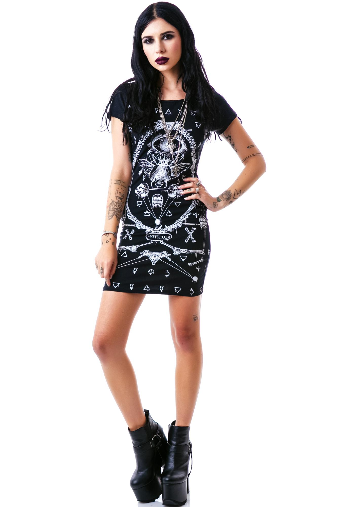 Symbol Study Cutout Dress