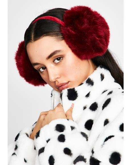 Lit Snow Princess Fur Earmuffs