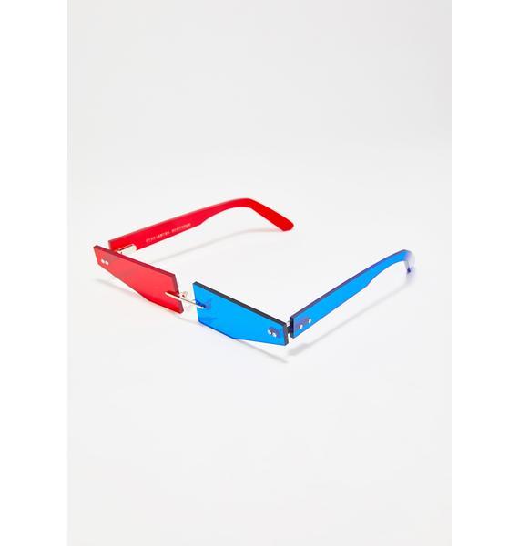Animal Hair 3D Slims Glasses