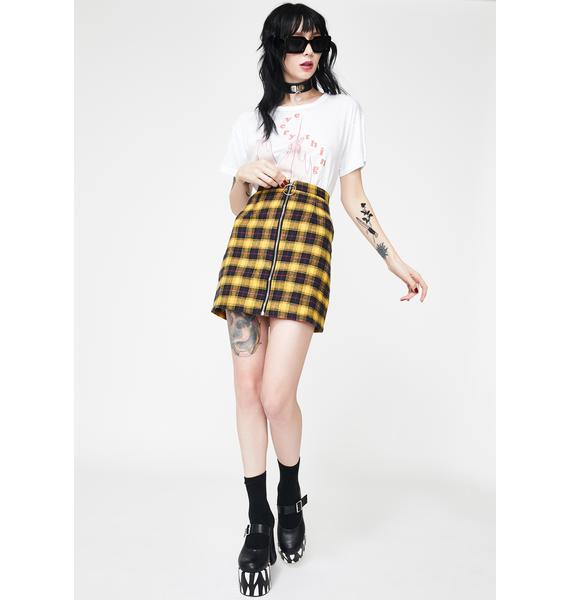Fearless Illustration Cher Check Mini Skirt