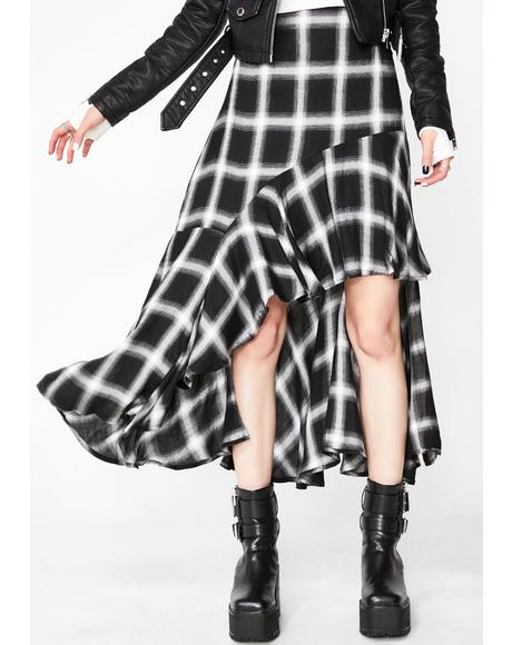 Raven The Weirdo Plaid Skirt