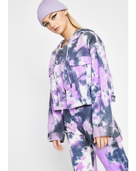 Lavender Wild Energy Tie Dye Jacket