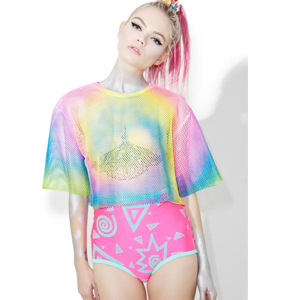 Rainbow Player Cropped Jersey