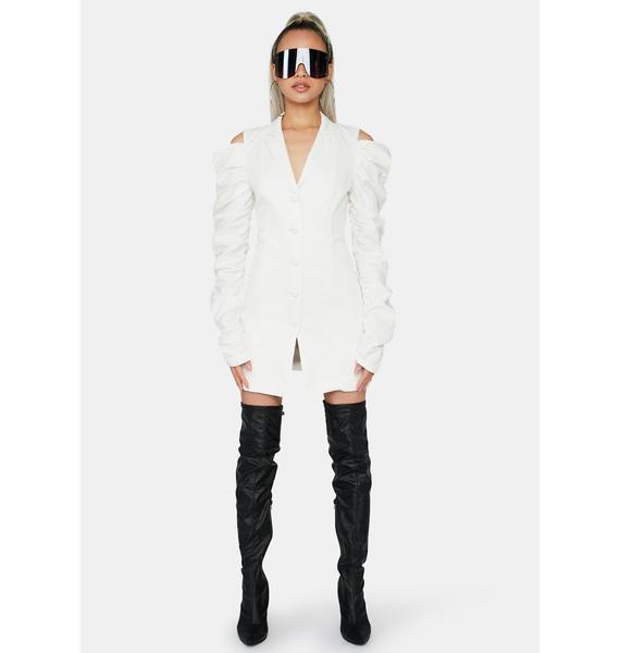Glamorous Off White Mini Shirt Dress