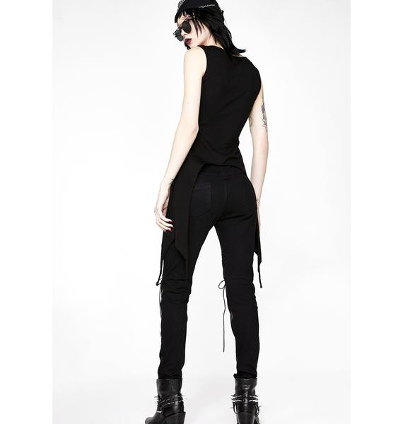 Punk Rave Punk Hollow Out Stretch Trousers