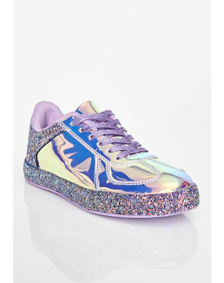 Cosmic Slide Hologram Sneakers