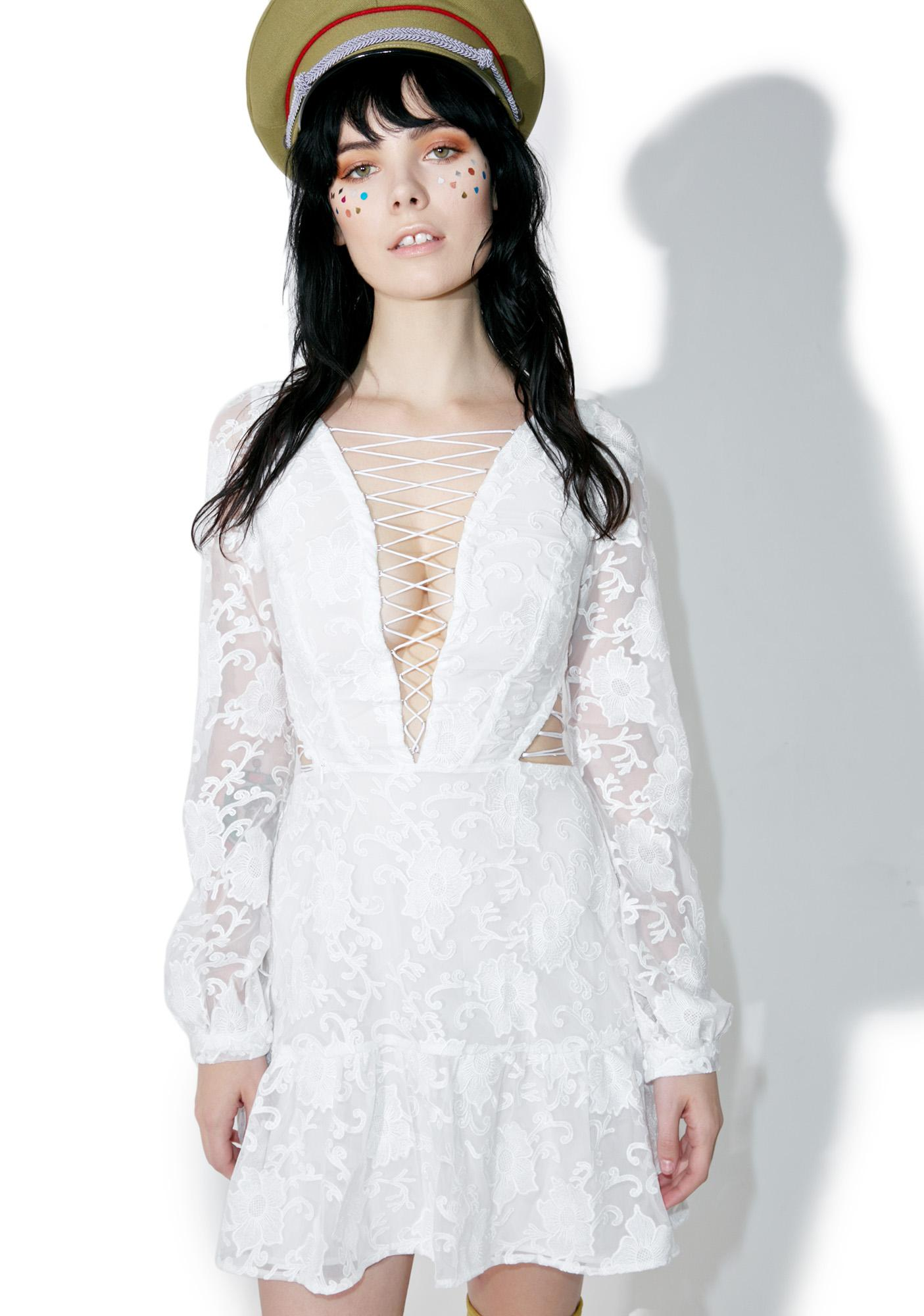 For Love & Lemons Pure Jolene Lace-Up Dress