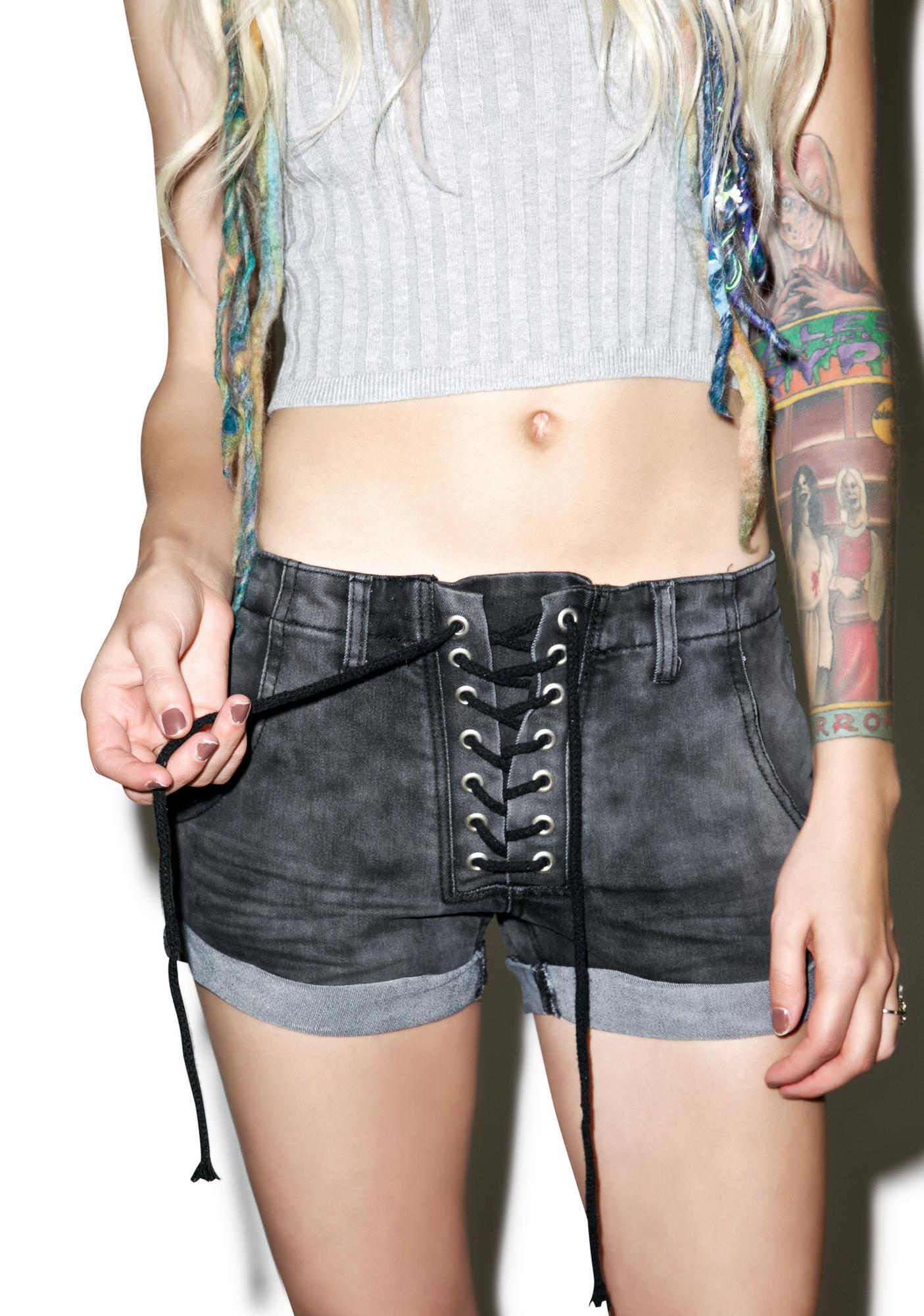 Brawler Lace Up Shorts
