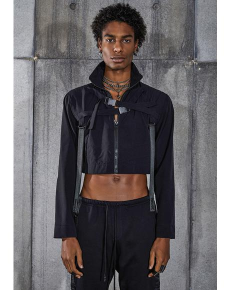 Snare Cropped Buckle Windbreaker