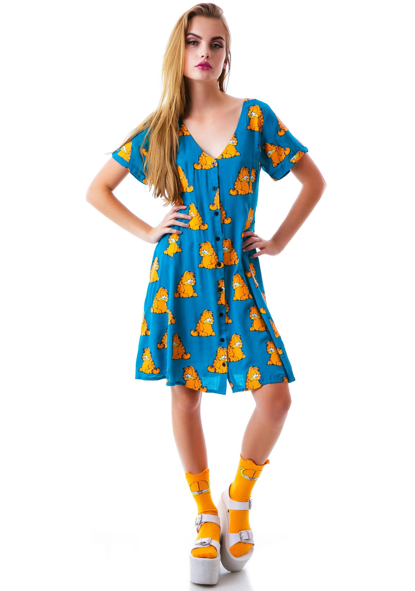 Lazy Oaf x Garfield Sad Cats Dress