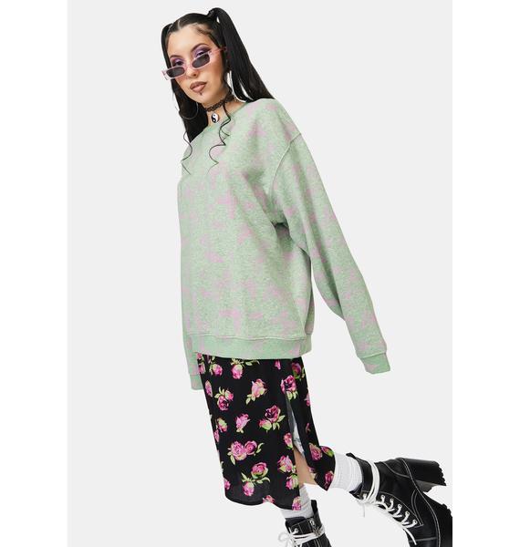 NEW GIRL ORDER Acid Butterfly Sweatshirt