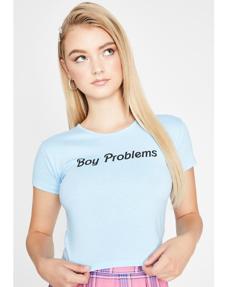 Boy Problems Graphic Baby Tee