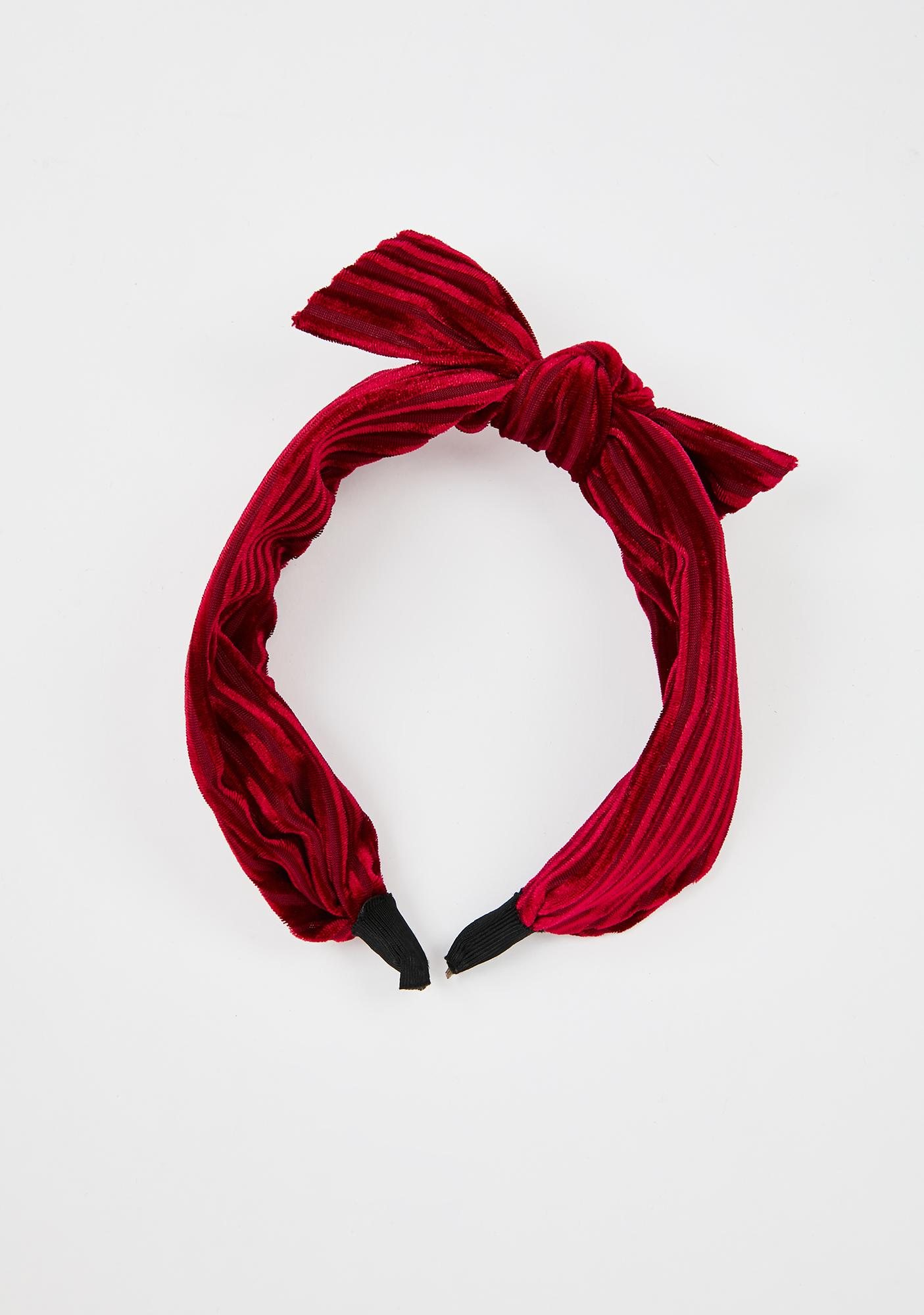 Never Tied Down Velvet Headband